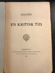 En kritisk tid titelblad 1897