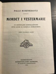 Mordet i Vestermarie titelblad 1914