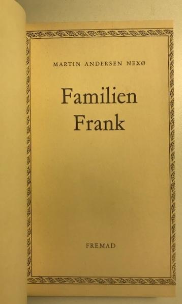 Familien Frank titelblad