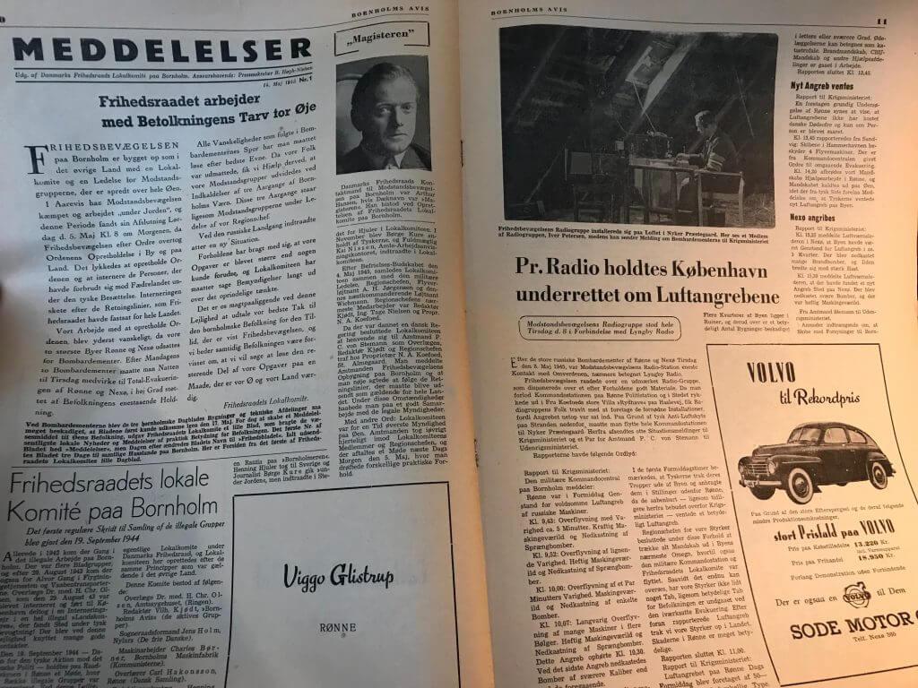 Bornholms Avis 1955 opslag