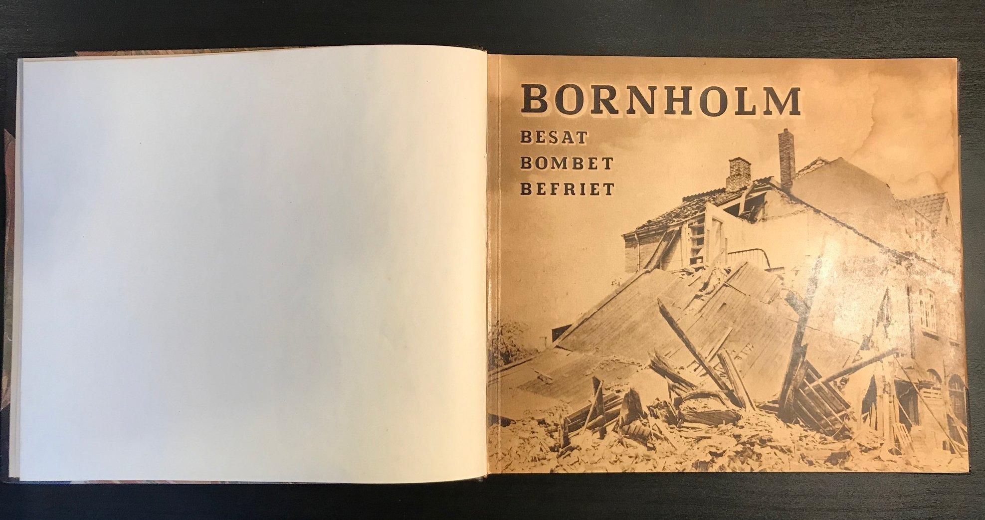 Bornholm besat – bombet – befriet indbundet