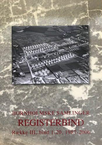 Bornholms samlinger Registerbind Række III