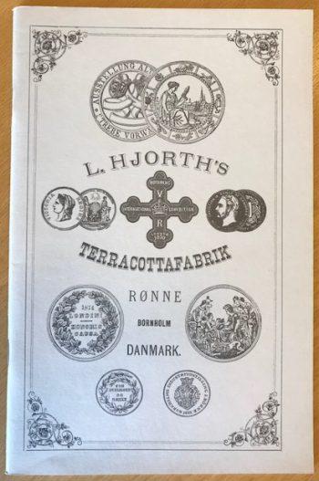 Pris-courant fra L. Hjorths Terracottafabrik